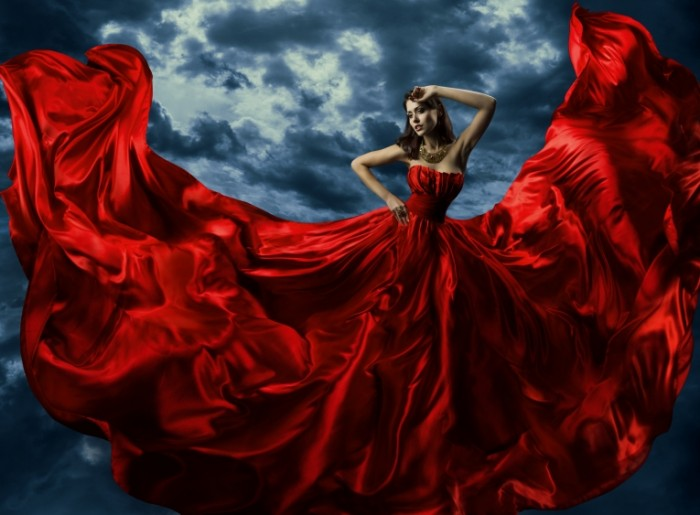 Devushka v krasnom Lady in Red 6012x4430 700x515 Девушка в красном   Lady in Red
