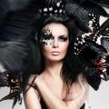 Девушка макияж- Women butterflies