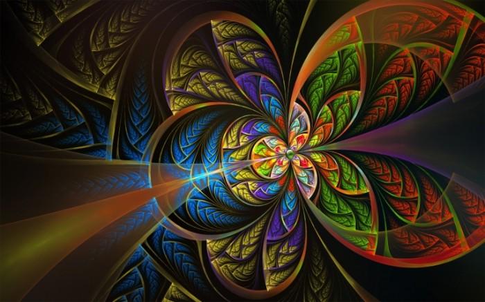 uzor fraktal kraski linii 700x437 Цветочный узор   Flower pattern