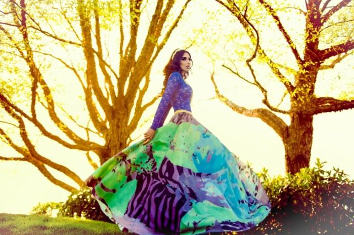 mariam mohammad plate busy 3802 700x466 Девушка в ярком платье   Girl in a bright dress