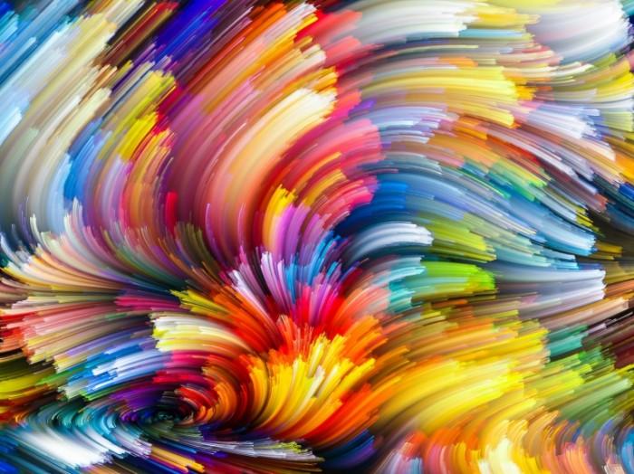 rainbow painting colorful abstract splash colors backgroun 3 700x524 Радужный рисунок   Rainbow painting