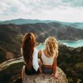 Девушки и пейзаж - Girls and landscape