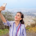 Девушка фотографирует, селфи - The girl is taking pictures, selfie