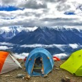 Палатки в горах - Tents in mountains