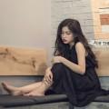 Девушка брюнетка в черном платье - Brunette girl in black dress