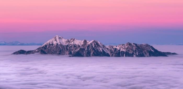 Zakat goryi Sunset mountains 700x340 Закат, горы   Sunset, mountains