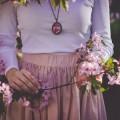 Девушка в розовом, цветы - Girl in pink, flowers