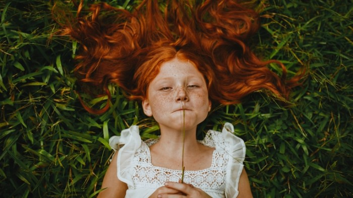 рыжая девочка   redhead girl