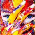 Девушка, краски - Girl, paints