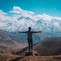 Горы, человек - Mountains, people
