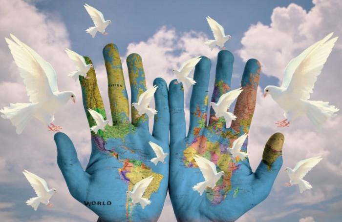 Mir golubi nebo World pigeons sky 700x455 Мир, голуби, небо   World, pigeons, sky