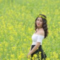 Поле, цветы, девушка - Field, flowers, girl