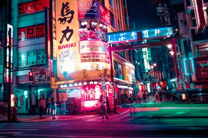 Tokio ulitsa Tokyo street 700x466 Токио, улица   Tokyo, street