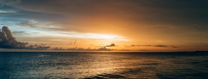 Океан, закат   Ocean, sunset