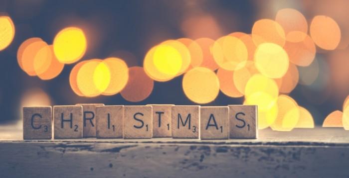 Рождество Кубики Буквы   Christmas WorDrop