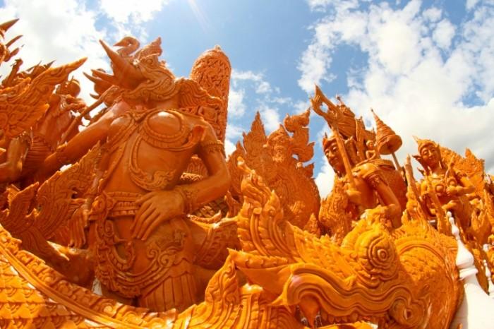 Статуи, дворец, Азия   Statues, palace, Asia