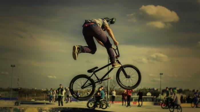 Велосипедист, BMX   Cyclist, BMX