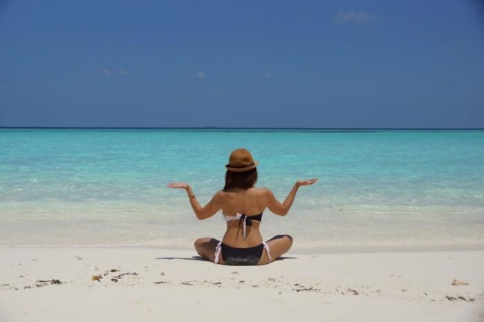 Йога, пляж   Yoga, beach
