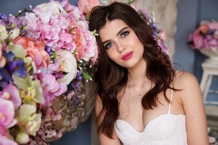 Девушка, цветы   Girl, flowers