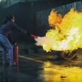 Огнетушитель, пламя - Fire extinguisher, flame