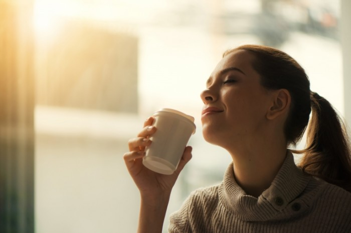 Девушка, утро, кофе   Girl, morning, coffee