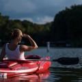 Девушка в байдарке - A girl in a kayak