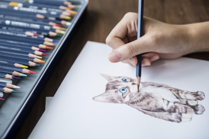 Risunok karandashom kotenok Pencil drawing kitten 5000  3338 700x466 Рисунок карандашом, котенок   Pencil drawing, kitten