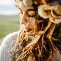 Девушка, лицо крупным планом, прическа - Girl, face close-up, hairstyle