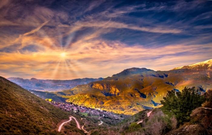 Goryi sklon rassvet Mountains slope dawn 5593  3580 700x447 Горы, склон, рассвет   Mountains, slope, dawn