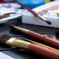 Кисти, макро, краски - Brushes, macro, paints