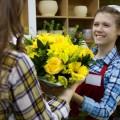 Магазин, желтые цветы - Shop, yellow flowers