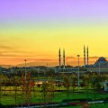 Мечеть, пейзаж, закат - Mosque, landscape, sunset