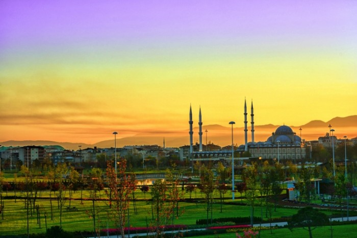 Mechet peyzazh zakat Mosque landscape sunset 6000  4000 700x466 Мечеть, пейзаж, закат   Mosque, landscape, sunset