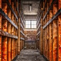 Архив, стеллажи, заброшенное здание - Archive, shelves, abandoned building