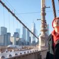 Азия, небоскребы, мост, девушка - Asia, skyscrapers, bridge, girl