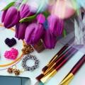 Букет, тюльпаны, женский столик - Bouquet, tulips, woman's table