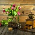 Кофе, тюльпаны, натюрморт - Coffee, tulips, still life