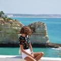 Крутой обрыв, море, девушка - Steep cliff, sea, girl