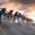 Вьетнам, работники, добыча соли - Vietnam, workers, salt extraction