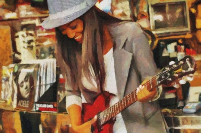 Devushka s gitaroy muzyikant Girl with guitar musician 5667  3769 700x464 Девушка с гитарой, музыкант   Girl with guitar, musician