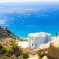 Греция, Крит, белоснежный дом у моря - Greece, Crete, snow-white house by the sea