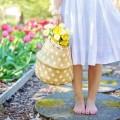Лето, девушка с тюльпанами, цветы - Summer, girl with tulips, flowers
