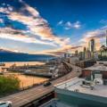 Город на берегу океана, городской пейзаж - City by the ocean, city landscape