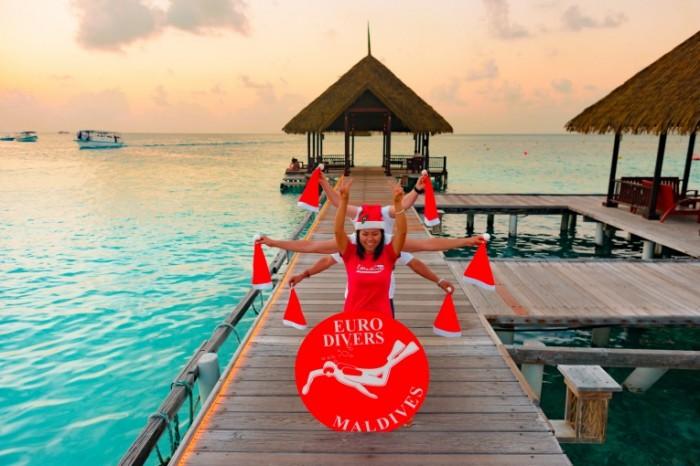 Maldivyi prichal novyiy god v tropikah Maldives pier new year in the tropics 7360h4912 700x466 Мальдивы, причал, новый год в тропиках   Maldives, pier, new year in the tropics