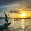 Рыбалка, сеть, азия, закат - Fishing, net, asia, sunset