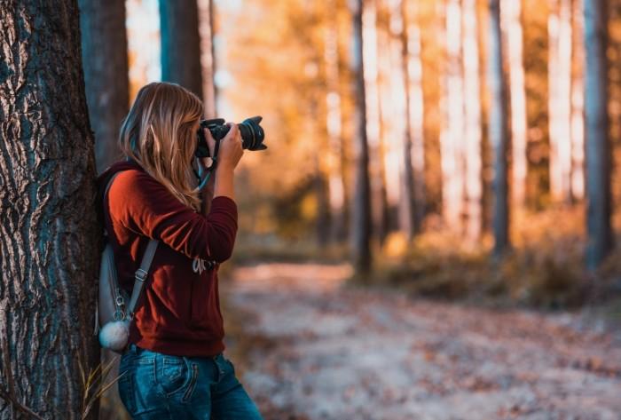 Devushka fotograf priroda les Girl photographer nature forest 5904h4000 700x473 Девушка фотограф, природа, лес   Girl photographer, nature, forest