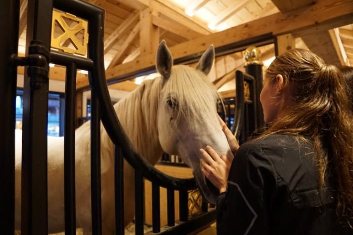 Stoylo zagon konyushnya devushka s loshadyu Stall corral stables a girl with a horse 6000  4000 700x466 Стойло, загон, конюшня, девушка с лошадью   Stall, corral, stables, a girl with a horse