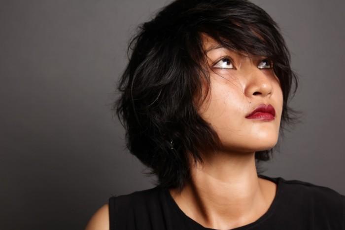 Азиатка, девушка, лицо крупным планом, каре   Asian, girl, closeup face, caret