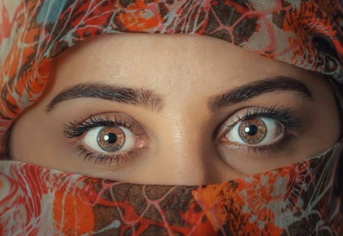 Паранджа, глаза, восточная женщина   Burqa, eyes, eastern woman