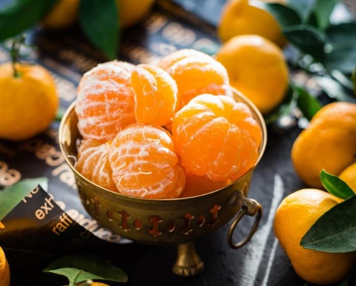 Почищенные мандарины, макро, фрукты   Peeled tangerines, macro, fruit